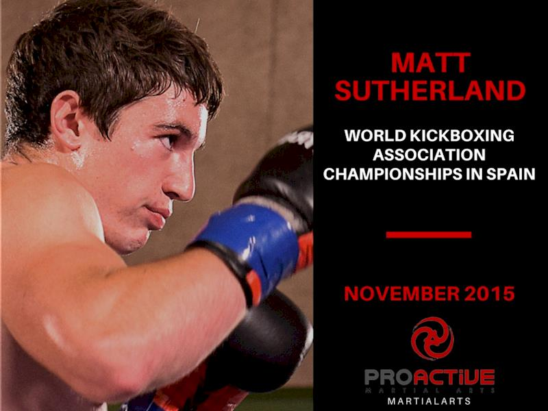 Get Matt Sutherland to the World Kickboxing Championships in Spain