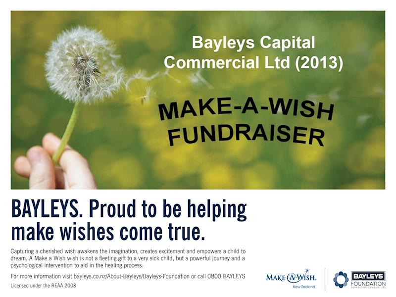 Make A Wish Campaign ~ Bayleys Capital Commercial Ltd (2013
